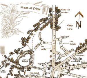 Scene of crime murder map